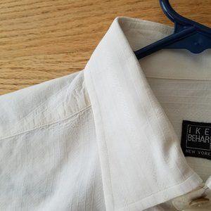 IKE BEHAR Dress Shirt Men's MEDIUM M Off White